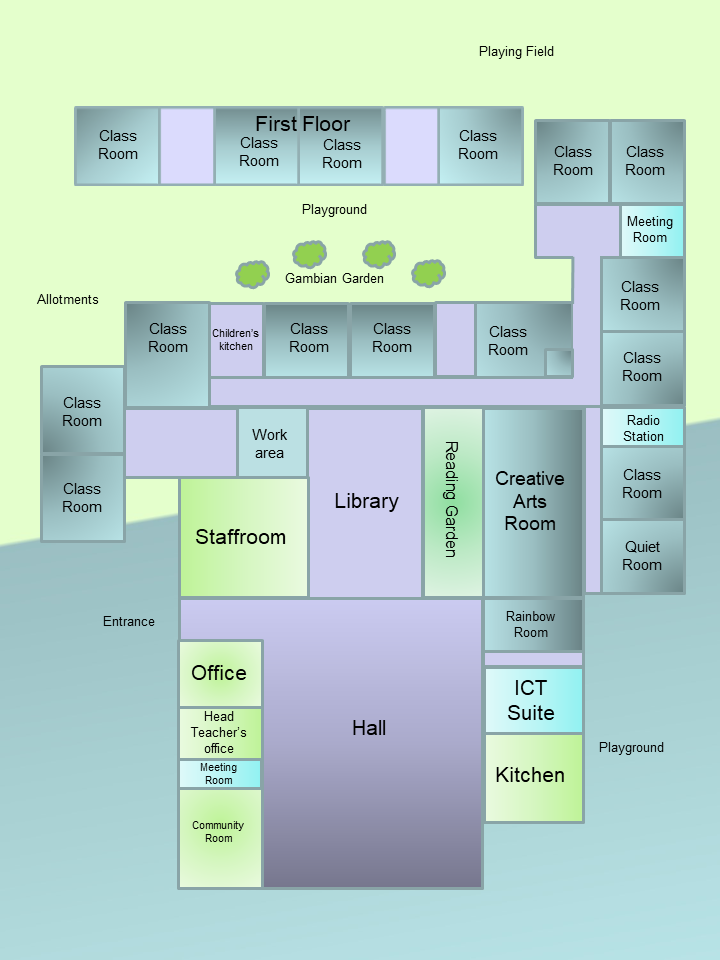 plan of school no classnames