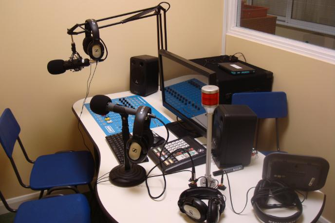 the radio station